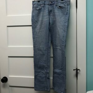 Low rise straight leg 545 Levi's light blue jeans